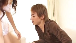 hot japanese juicy oral playing blowjob brunette couple cumshot