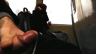 masturbation outdoor public train homemade cumshot