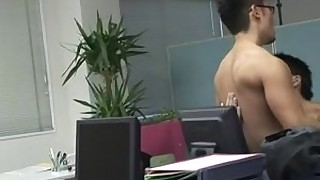 anal ass blowjob creampie cumshot hot licking office oral