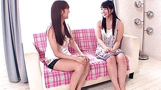 little lesbian teen brunette friends masturbation small-tits japanese