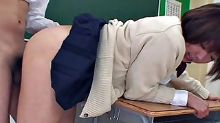 blowjob brunette classroom college fetish fuck hairy japanese small-tits