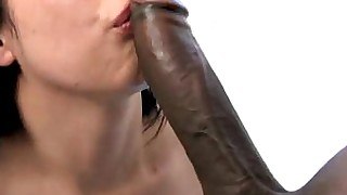 beauty black brunette interracial monster pornstar
